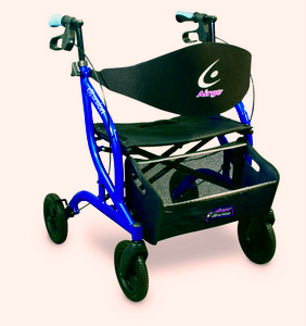 AMG Airgo Excursion XWD Extra Wide Side Folding Wheeled Walker Rollator