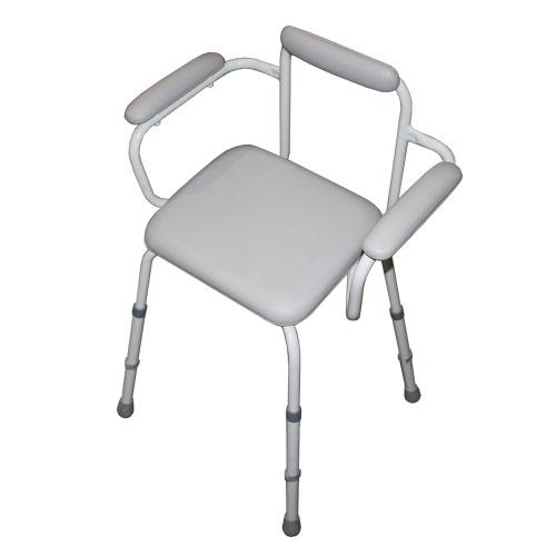 perching stool, perching stools, stool, stools, stool with back, stool with arm rests, stool with padded seat, non-skid stool