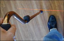 laser cane, cane with laser, cane for parkinsons
