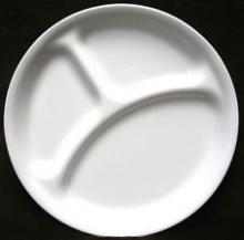 Action Medical, Parsons, Divided, Plate, Divided Plate, Dinner, Divided Dinner Plate, Meal, Food, Eat, Non-Slip, Stackable, Dishwasher Proof,
