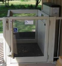 porch lift, multilift, savaria, lift for porch, wheelchair lift