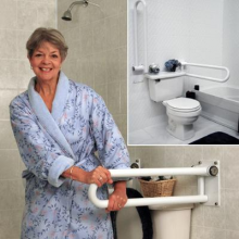 P.T Rails, toilet rail, grab bar for toilet, wall mounted grab bar. hinged p.t. rail